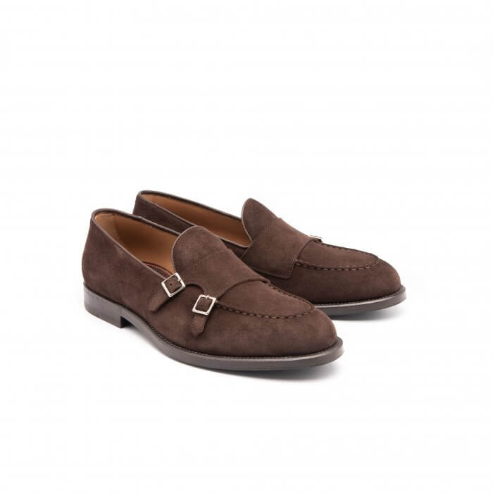 Moccasin with double buckle