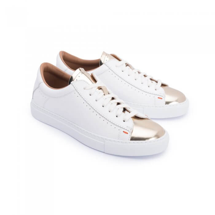 Sneaker with gold tip
